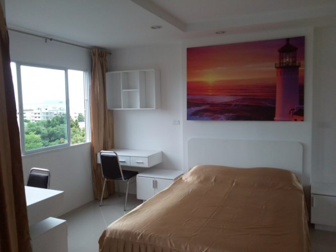 1-bedroom unit, 100 m from sea, Jomtien Soi 12, SeaView, 1 month – 1 year