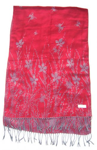 Pashmina Shawl with floral print design