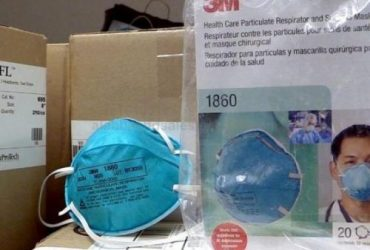 3M 1860 N95  Respirator & Surgical Face Masks