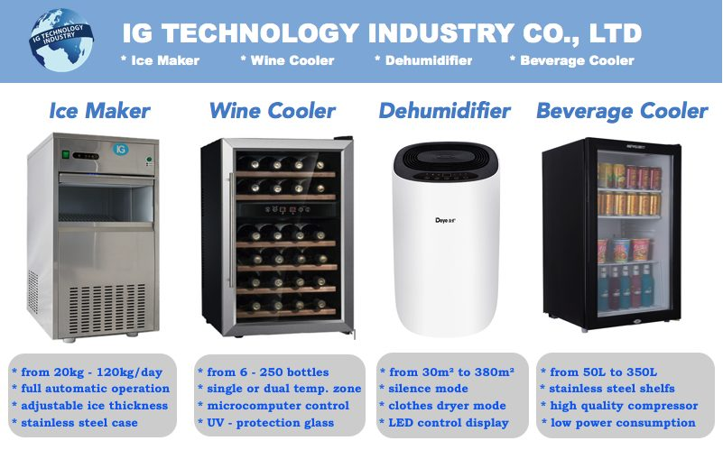 Wine Cooler ตู้แช่ไวน์ Wine Cellar Wine Fridge with Compressor IG – W20S for 20 bottles